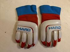 OLD SCHOOL BMX VINTAGE HARO RACING GLOVES  FIRST GENERATION LEATHER   - RARE !!
