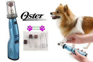 Oster Gentle Paws PET Dog Cat CORDLESS NAIL GRINDER Grooming  Claw Beak Trimmer