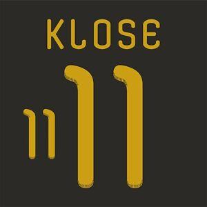 Klose 11. Germany Away football shirt 2010 - 2011 FLEX NAMESET NAME SET PRINT