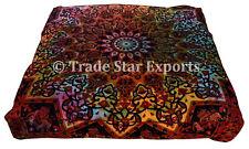 Large Tie Dye Mandala Box Cushion Cover Ethnic Cotton Bohemian Throw Pillow Case