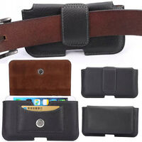 Smart Cell Phone Belt Case Wallet Waist Pu Leather Cover for Many Mobile Phone