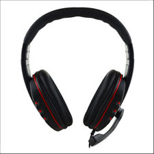 Leather 3.5mm Wired Stereo Micphone Headphone Mic Headset for Sony PS3 PS4 PC DG