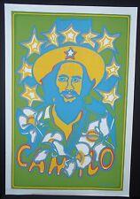 CAMILO Cuban Silkscreen Tribute Poster / Pop Art Gem by Raul Martinez / CUBA ART
