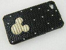 iPhone 4 4S 4G 4G HARD COVER CASE Disney Mickey Mouse BLACK White SILVER Bling