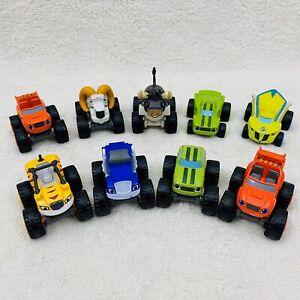 Blaze & the Monster Machines Lot Of 9 Die Cast Bighorn Ram Smashy Race Cars Zeg