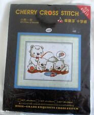 "Cherry Cross Stitch  Kit   new  ""Polar Bears """