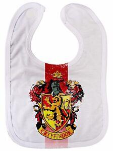 """Gryffindor Baby Bib """"House Crest"""" Harry Potter Hogwarts All Over Print"""