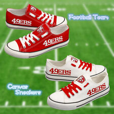 49ERS Football Team Canvas Shoes Casual Sneakers Low Cut Lace Up Men Women