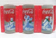 Coca-Cola - LA TERRA DEGLI ORSI 3 BICCHIERI - 300 cl-h cm. 14,5 x 6,7 diam
