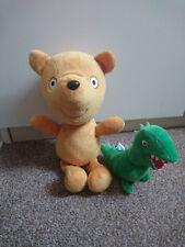 PEPPA PIG - Peppa's Teddy soft toy and George's Mr Dinosaur Buddy Plush Toy