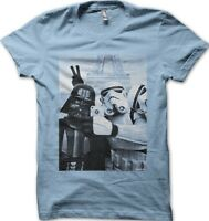 Star Wars StormTrooper Darth Vader JEDI Selfie Paris YODA SKY BLUE t-shirt 9773