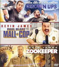 3 family comedy movies Grown Ups, Paul Blart Mall Cop, Zookeeper, new DVDs James