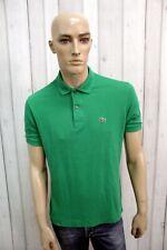 LACOSTE Uomo Polo 3 Verde Taglia M Cotone T-Shirt Casual Maglietta Manica Corta