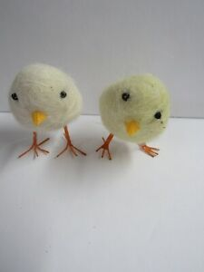 Bethany Lowe Set of 2 Felted Wool Chicks RL4700