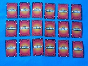 Cluedo Passport To Murder Board Game Spares - Complete Set Of 18 Clue Cards
