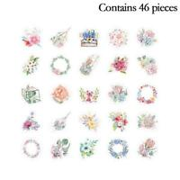 46pcs/Set Korean Japanese Journal Paper Diary Flower Stickers DIY Scrapbooking