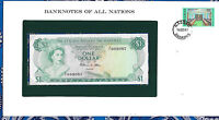 Banknotes of All Nations Bahamas 1 dollar 1974 AUNC P-35b Prefix P/1 Allen*
