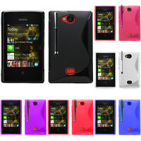 Coque Souple Silicone Gel Motif S-Line Pour Nokia Asha 503/ 503 Dual SIM