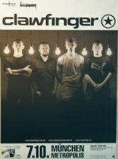 CLAWFINGER CONCERT TOUR POSTER 2001 A WHOLE LOT OF NOTHING