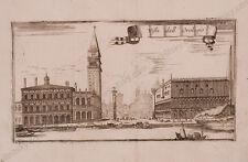"""Piazza di San Marco/Venice"", Etching, 17th Century"