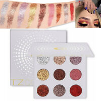 9 Colors Shimmer Eyeshadow Palette Natural Glitter Eye Shadow Matte Make up UK