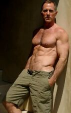 Shirtless Male Muscular Older Beefcake Dude Hairy Chest Hunk PHOTO 4X6 C1456