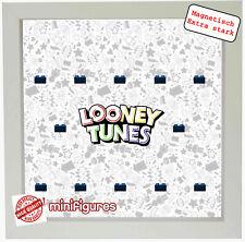 Magnetischer Setzkasten Vitrine 25x25cm für LEGO Minifiguren Looney Tunes