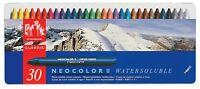 Caran Dache Neocolor II Watersoluble Wax Oil Crayon Pastels Art Sketch Set Of 30