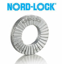 NORD LOCK WEDGE LOCK METRIC WASHERS SIZE M10 x 10.7d x16.6D x 2.5T ( 4 SETS )