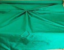 """DELUXE SMOOTH SILK ` 54"""" Wide BOTTLE GREEN cut from roll half metre price"""