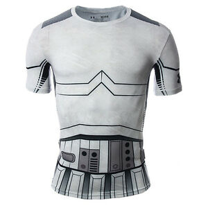 Under Armour Star Wars Trooper Compression Shirt NEW men 1273450-100 grey black