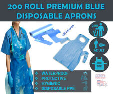200 Roll Premium Thick Quality Blue Disposable Polythene Plastic Aprons Medical