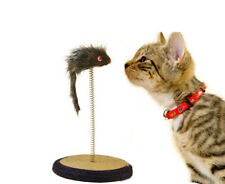 Cat Kitten Scratcher Scratching Scratch Post Interactive Toy With Mouse