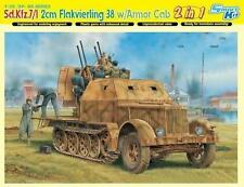 Dragon Sd.Kfz.7/1 2cm Flakvierling 38 w/Armor Cab 1:35 Bausatz Kit 6533   2 in 1