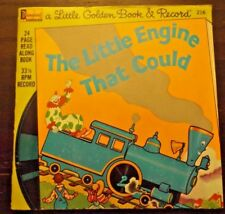 """The Little Engine That Could Book and Record (Disneyland 216) 1976 33rpm 7"""""""