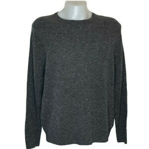 Brooks Brothers Mens Pullover Sweater Gray Marled Long Sleeves 100% Wool XL New