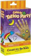 Creativity for Kids Kit - Color In Tattoo Party