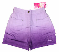 GIRLS LILAC SHORTS TWO TONE HOT PANTS COTTON EX ADAMS 3-10 YEARS BNWT
