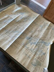 1938 Canada Gananoque Ontario Dept Of Defence Vintage Map Leeds St Lawrence