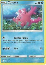 POKEMON SUN & MOON CARD: CORSOLA - 36/149
