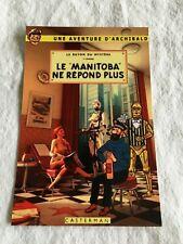 CARTE POSTALE TINTIN   HOMMAGE A HERGE PASTICHE LE MANITOBA NE REPOND PLUS