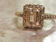 LeVian Morganite Ring 1/4 ct tw Diamonds 14K Strawberry Gold