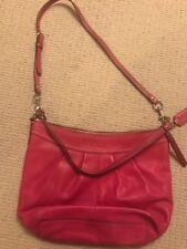 Authentic Coach Handbag, Leather Shoulder Bag, Pink