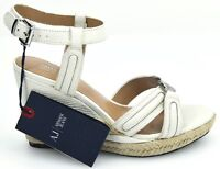 ARMANI JEANS WOMAN WEDGE SANDALS SHOES SUMMER CASUAL FREE TIME LEATHER Z5562