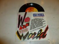 "USA AFRICA - VARIOUS - We Are The World - 1985 UK 7"" vinyl single"