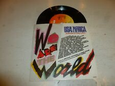 """USA AFRICA - VARIOUS - We Are The World - 1985 UK 7"""" vinyl single"""