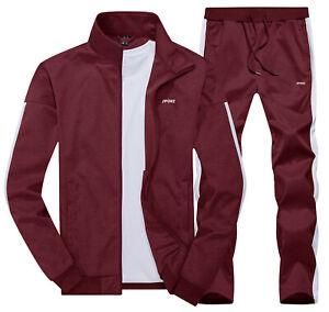 2pcs Athletic Tracksuit Set Men's Jogger Suits Gym Fitness Running Sweatsuit