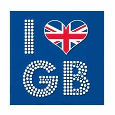 I Love Great Britain Paper Paper Napkins Royal Wedding Party GB Tableware 33cm
