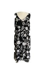Liz Jordon Women's Plus Size A - Line Maxi Black & White Dress Size 18
