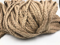 Natural Hessian Jute Twine Rope 5M Burlap Ribbon Vintage Decor 5mm Craft